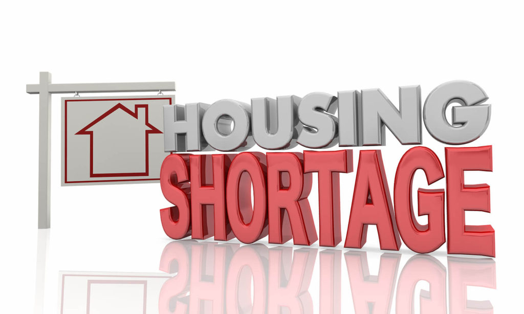 housing shortage sign